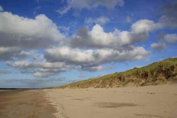 """Le sable se déplace par roulement et """"saltation"""", sorte de saute-mouton des grains les uns sur les autres. Mais voici déjà un exemple de falaise de dune, la dune embryonnaire a disparu la dune blanche est maintenant attaquée."""