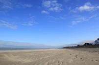 La digue de la plage de Leffrinckoucke, vue à partir de l'ouest