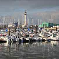 Vue du phare à partir du quai des Anglais, au Grand Large.