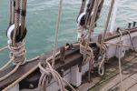 Vue du pont avant convenablement débarrassé de tout cordage.