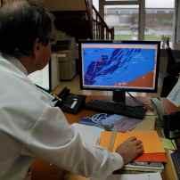 L'écran radar permettant de suivre le trafic sur l'ensemble du domaine maritime pris en charge par le port de Dunkerque