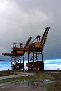 Les portiques de déchargement des matières premières